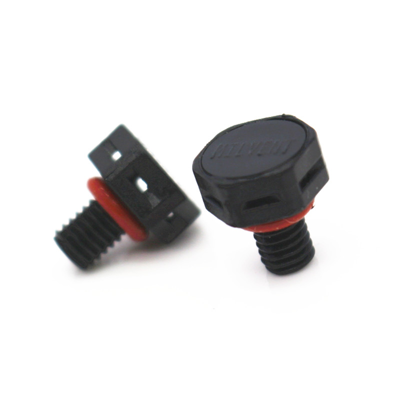 Milvent Plastic M5x0.8 Breather Screw in Protective Air Vent Plug Waterproof and IP68